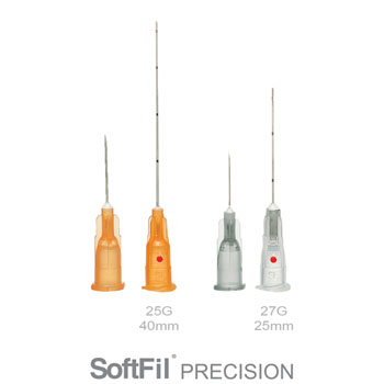 NEW SoftFil® Precision micro-cannulas: 25G 40mm and 27G 25mm